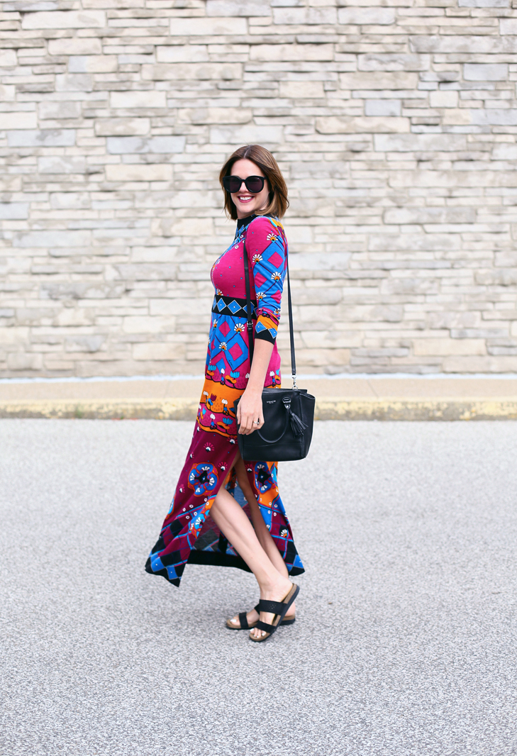 Vintage Maxi Dress, Colorful Maxi Dress, What I Wore, Jessica Quirk