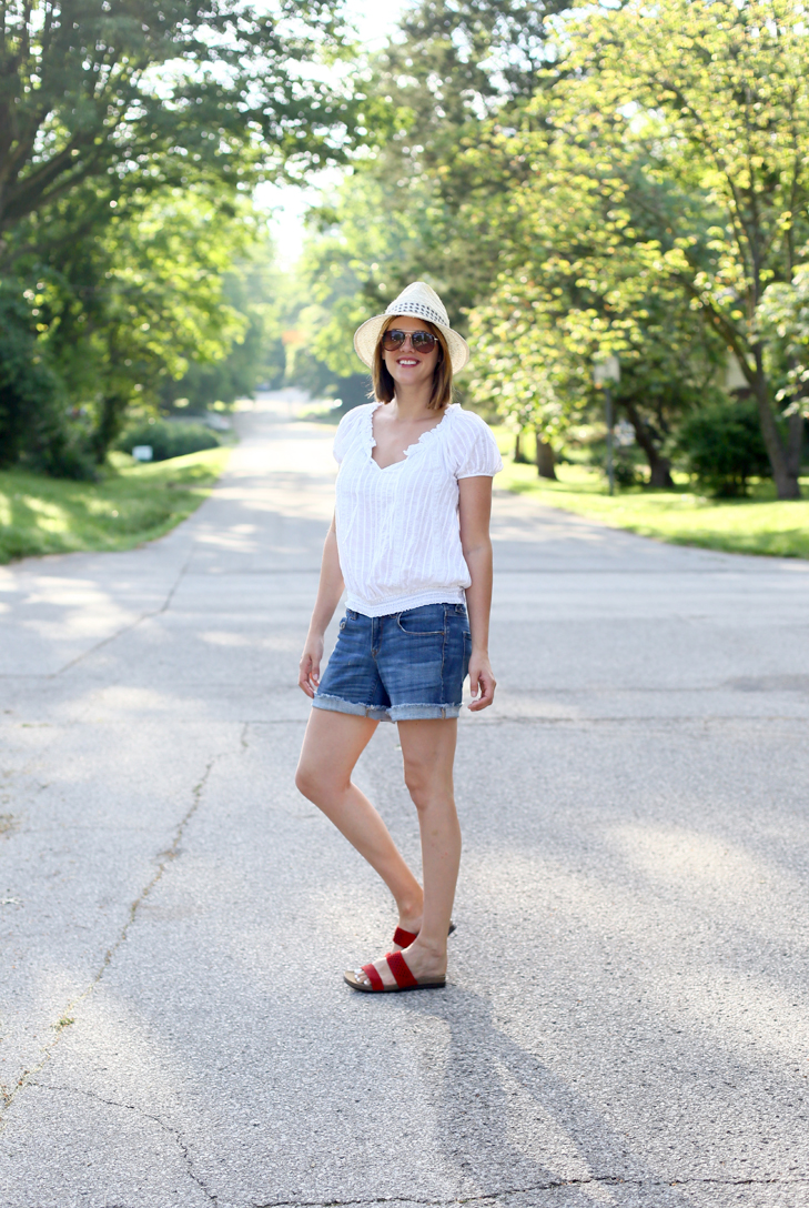 Summer Friday Outfit, Rockport Sandals, Jessica Quirk