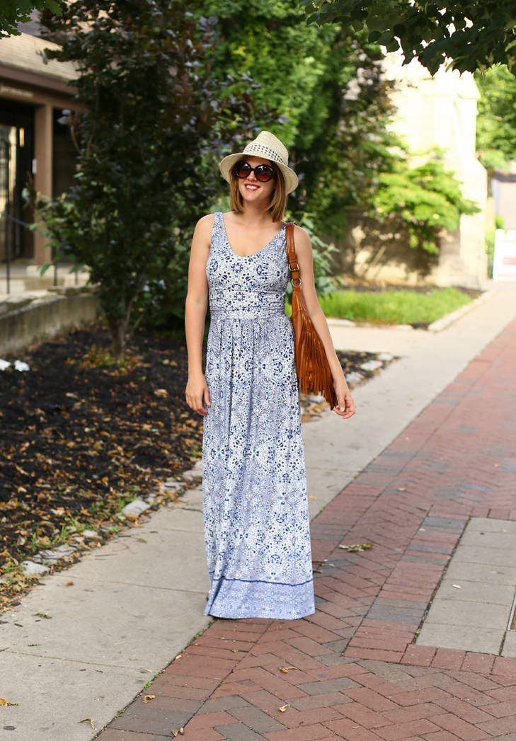 Maxi dress, easy summer outfit, weekend outfit, SAHM outfit