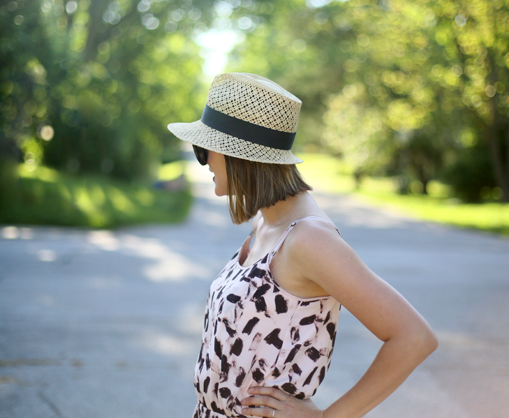 Repeat Dress, Straw Hat, Sundress, Birkenstocks