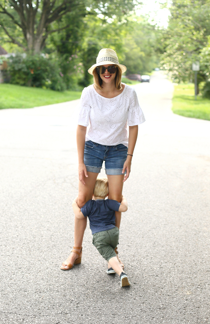 Easy Summer Outfit, Heat Wave Outfit, Summer Uniform, Mom and Son Photography