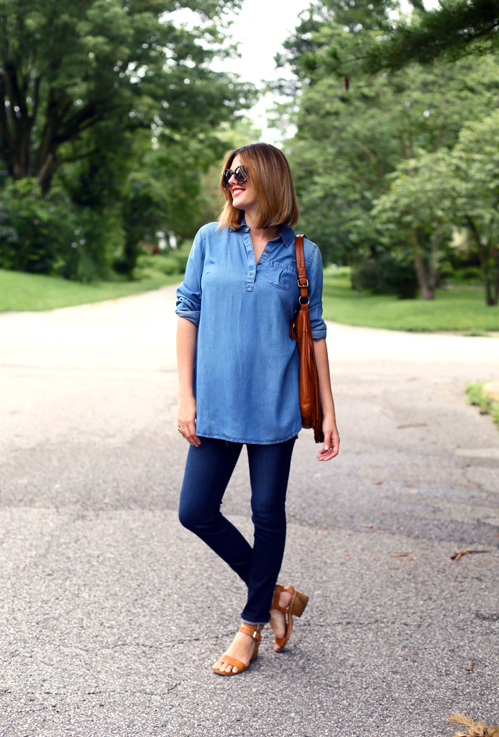 Second Trimester outfit, maternity style, maternity outfit, AG maternity jeans