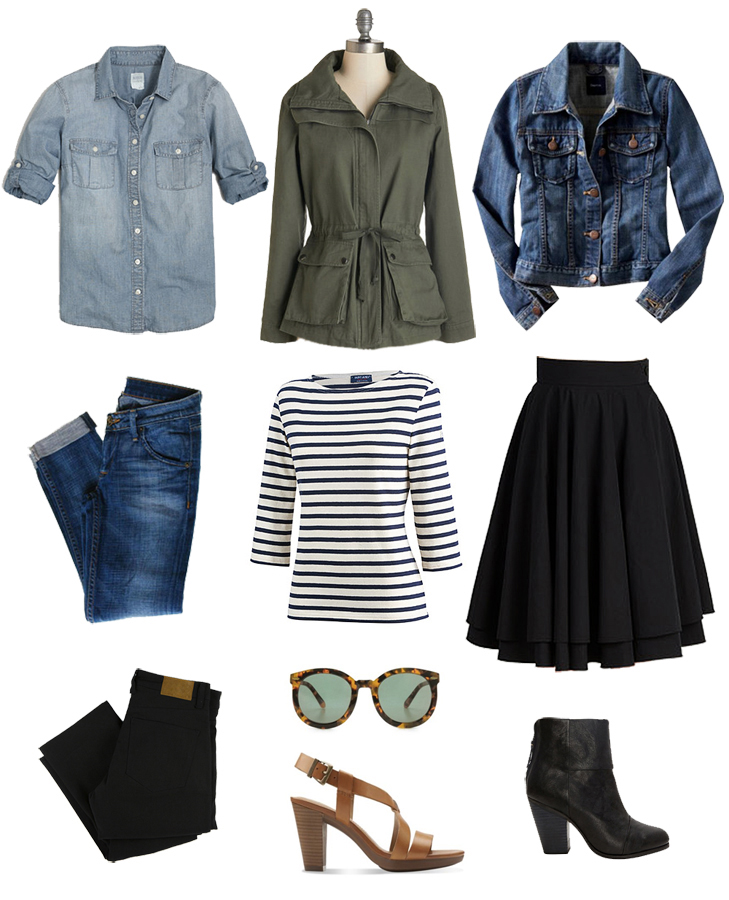 Core Closet, Closet Basics, Basic Outfit Building Blocks