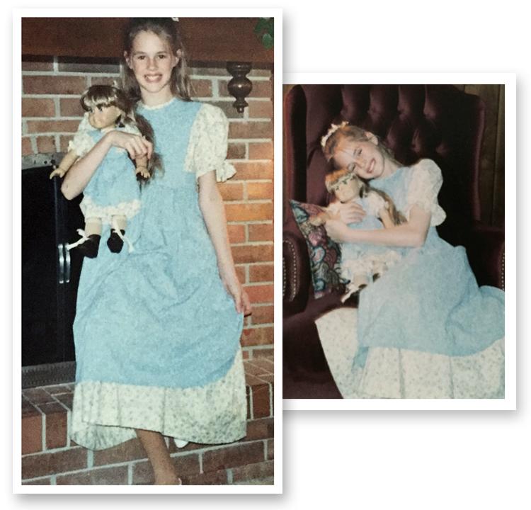 American Girl Doll, 1990s, Kirsten doll, Happy Birthday Kirsten dress