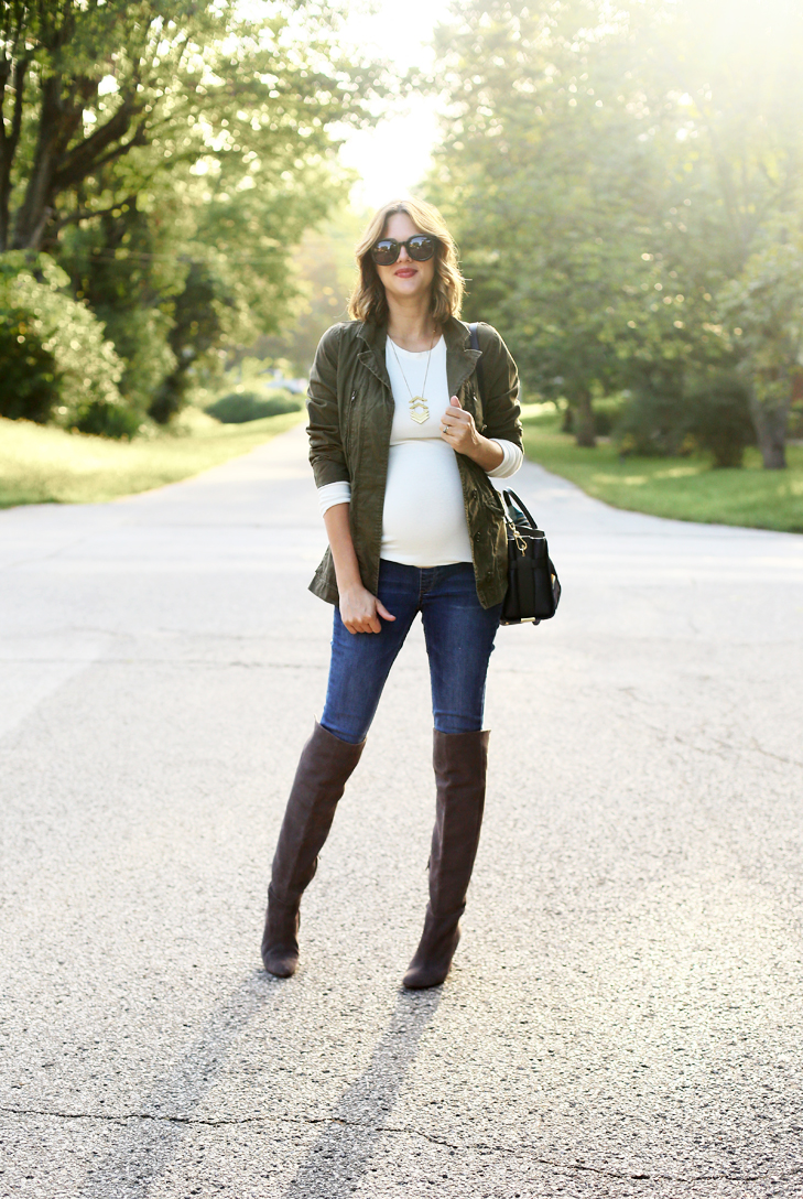 Fall Maternity Outfit, Maternity outfit, Maternity Jeans, Jessica Simpson Maternity Jeans, Cute Fall Outfit, Fall Style