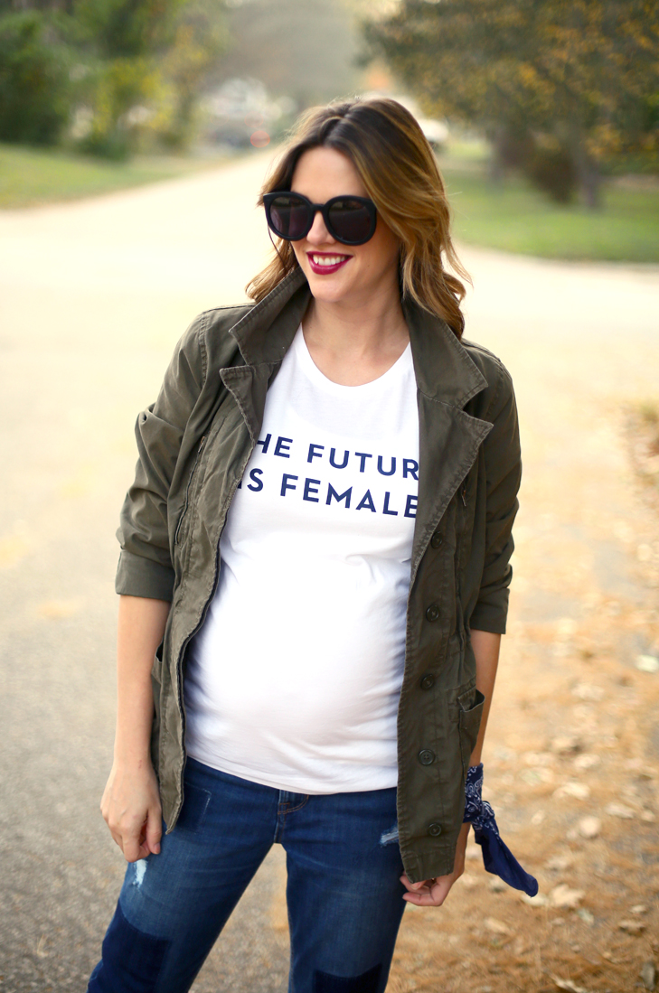 The Future is Female, Voting, Casual Outfit, Maternity Outfit, Voting Outfit