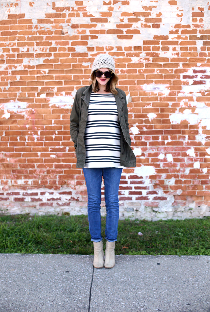 casual outfit, sahm, Third Trimester outfit, What to wear at seven months pregnant, maternity style
