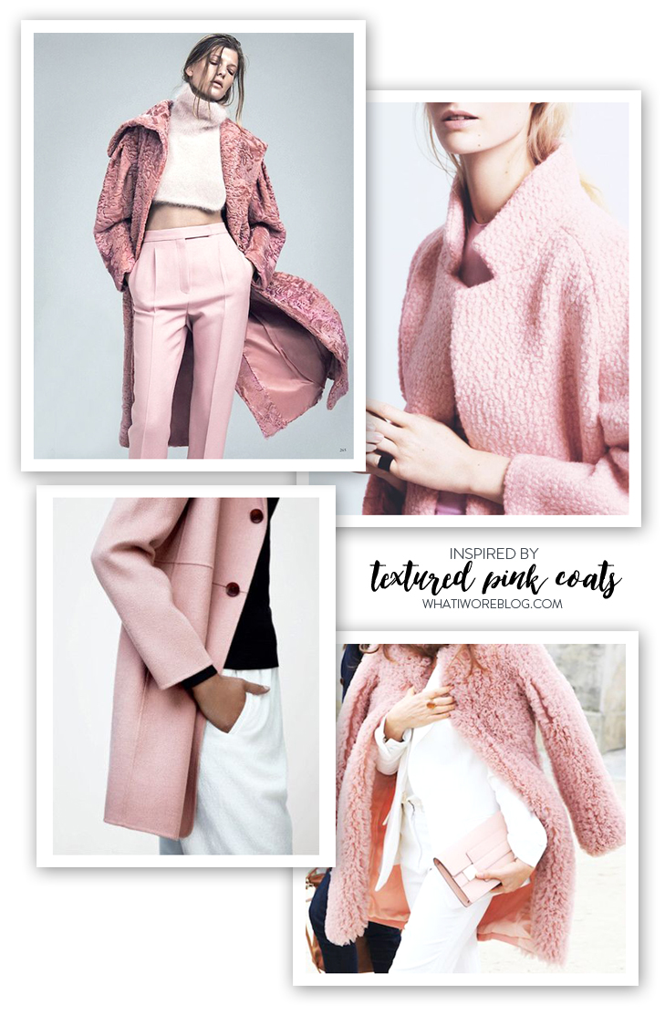 Pale Pink Coat, Pale Pink, Textured Pink Coats