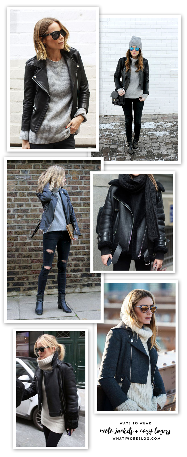 Leather Jacket Outfit, Moto Jacket Outfit, Moto Jacket and Sweater, Moto Jacket and Layers, Fall Outfit