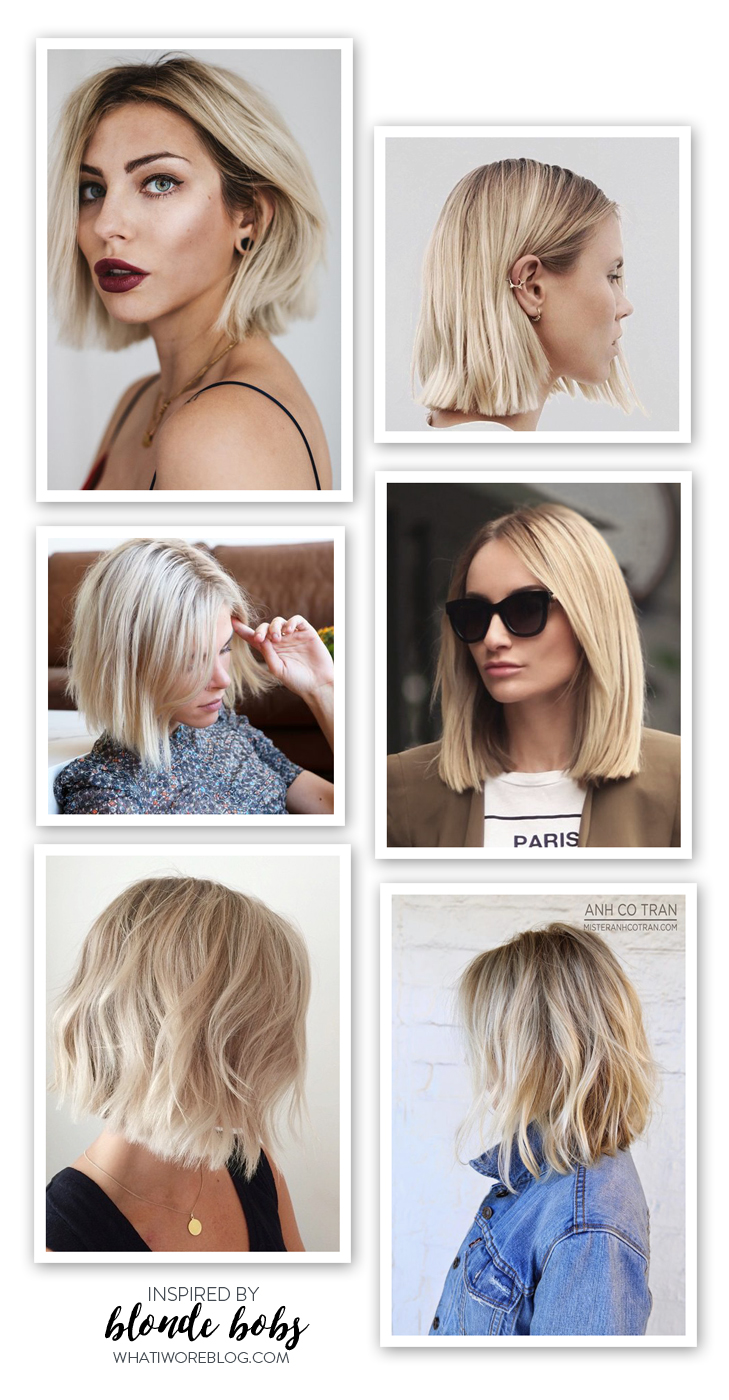 Blonde Bobs, Blond hair, chin length bob, Inspiration board