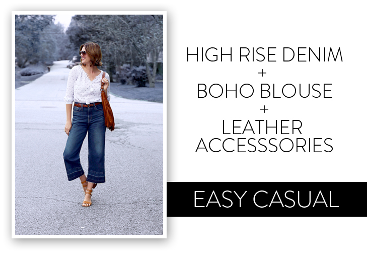 High Rise Wide Leg Jeans, Spring Outfit