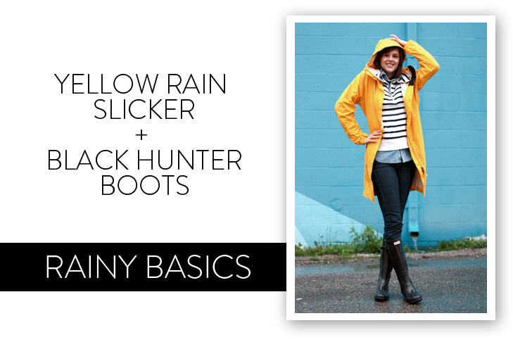 Yellow Rain Jacket, Rainy Day Outfit
