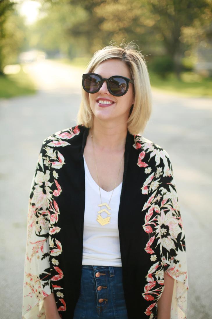 Kimono, Anthropologie Kimono, SAHM outfit