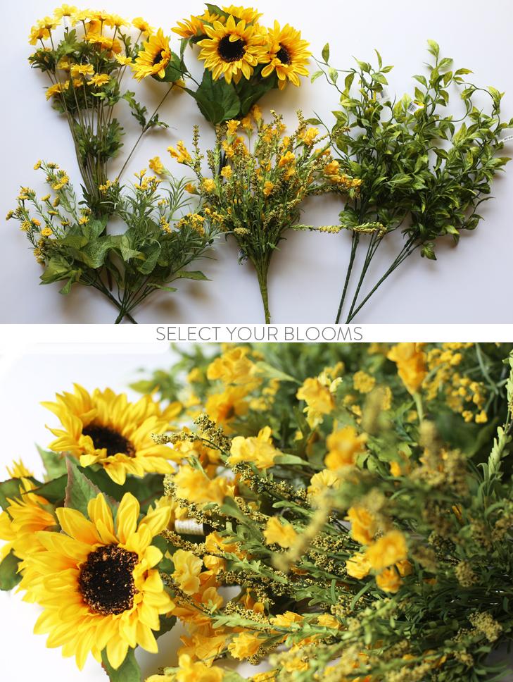 Front Door Wreath, Wreath DIY, How to Make a Front Door Wreath, Wild Flower Wreath