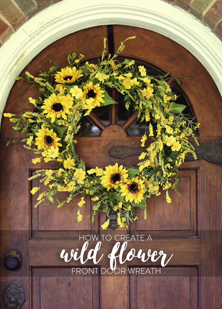 Front Door Wreath, Wreath DIY, How to Make a Front Door Wreath, Wild Flower Wreath