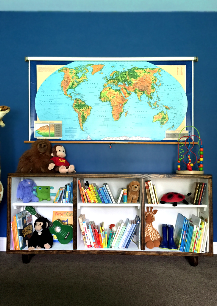 pull down school map decorating with vintage map colorful kids room rainbow kids - Colorful Boys Room