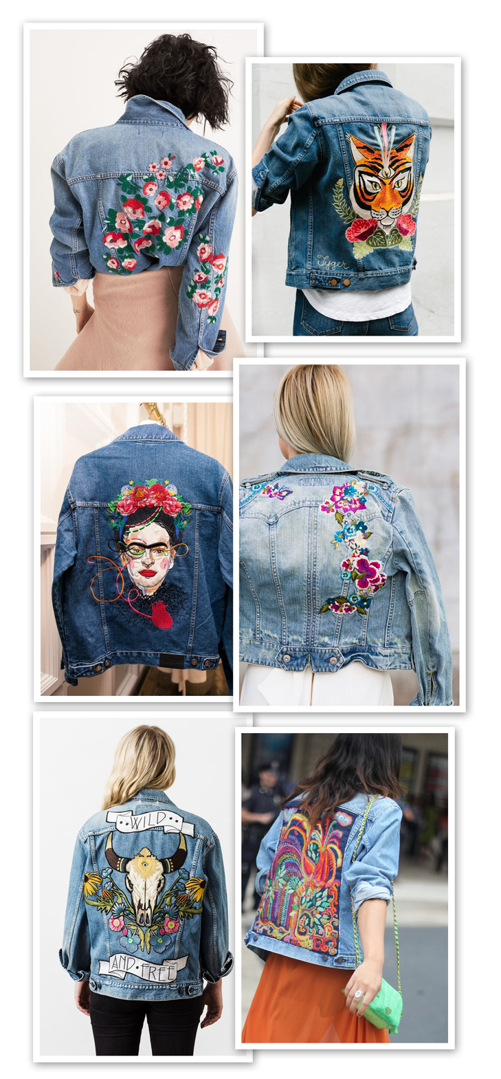 Embroidered Denim, Embroidered Jean Jacket