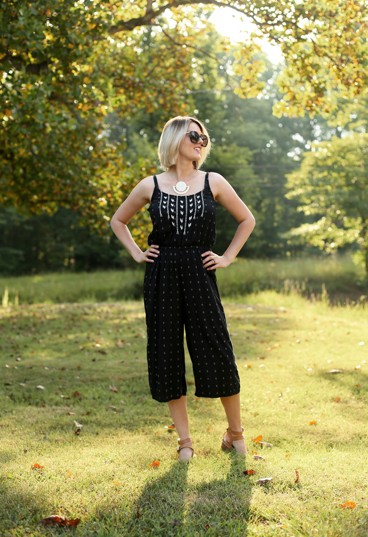 How to wear a romper, How to style a jumpsuit, Halogen necklace