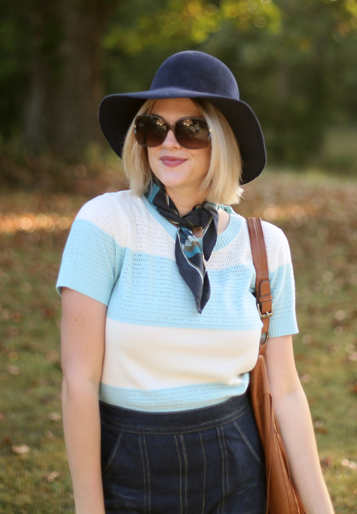 M7547, ModCloth Sweater, Seventies Outfit, 70s Outfit, Retro Outfit, What I Wore