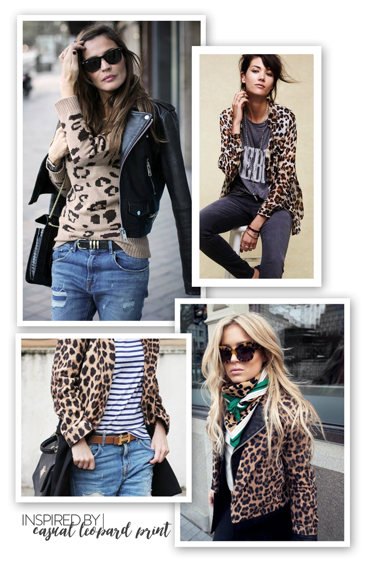How to Style a Leopard Cardigan, inspired by casual leopard print