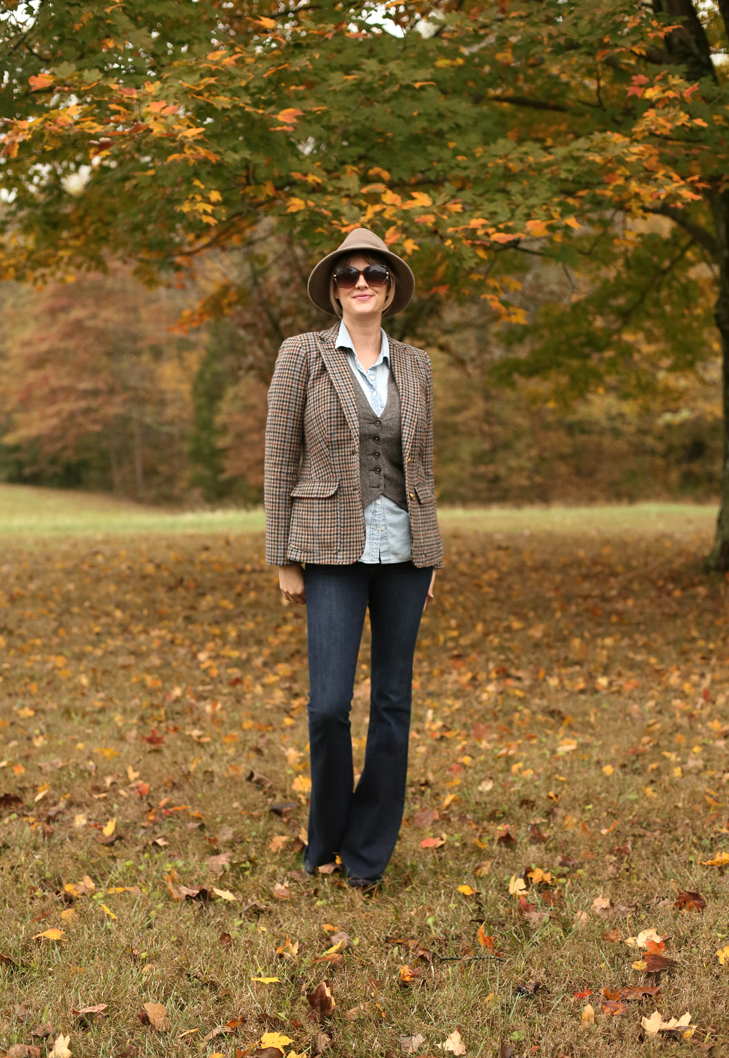 Tweed Blazer, Modern Annie Hall, Fall Outfit Idea