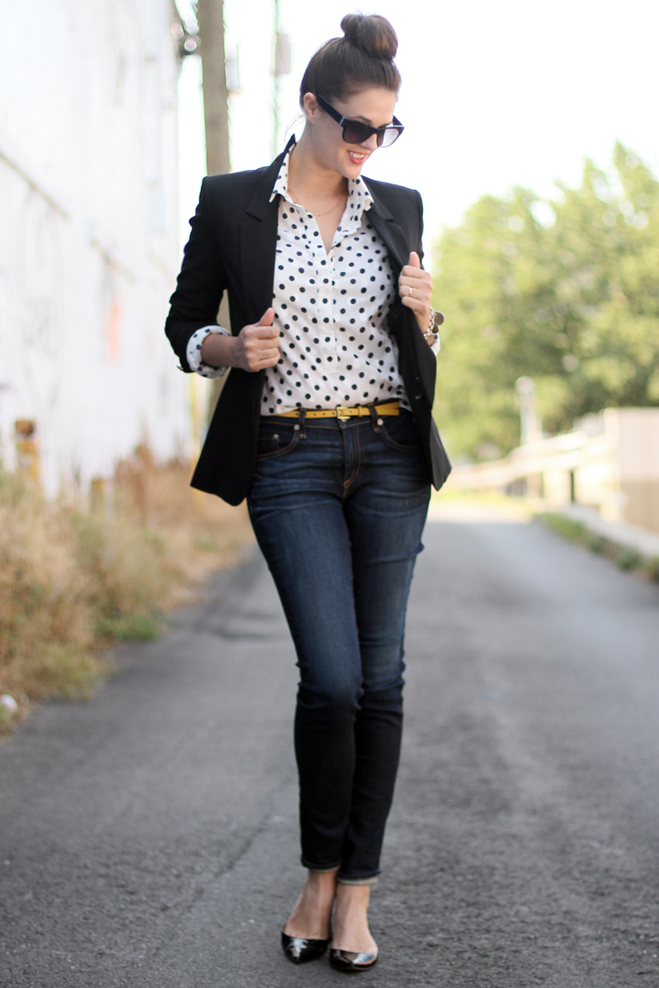 Business Casual Outfit, How to wear business casual, Jeans with Business Casual, Blazer and Jeans outfit, Business Casual professional, Jessica Quirk, What I Wore, fashion Blogger