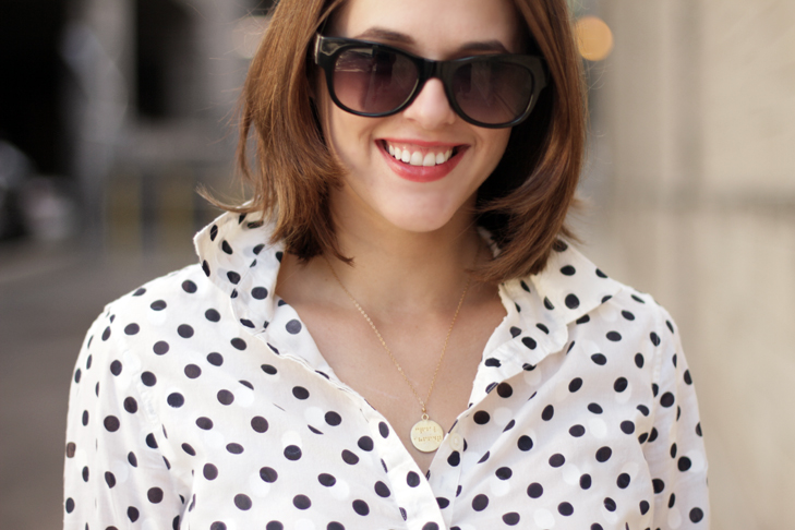 What I Wore, Jessica Quirk, Style Blogger, Fashion Blogger, Polka Dots, Matching Polka Dots, Pattern Play, Bloomington Indiana, Midwest Style