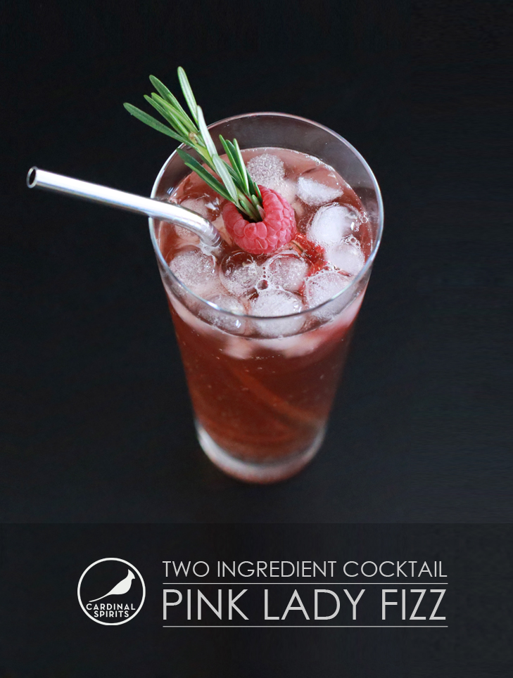 ... What I Wore, Cardinal Spirits, Pink Lady Fizz, Two ingredient Cocktail