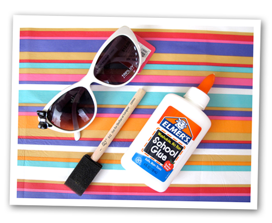 DIY, Do It Yourself, Do-It-Yourself, Sunglasses, Do it yourself Sunglasses, DIY Sunglasses, Target Sunglasses, Jessica Quirk, What I Wore, Projects, Weekend Projects, White sunglasses, Rainbow Sunglasses