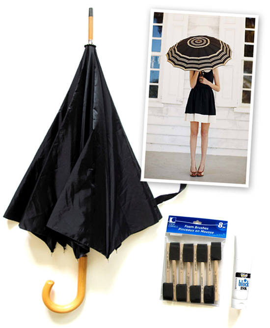 DIY, Do It Yourself, DIY Umbrella, What I Wore, WhatIWore, Black and White Umbrella, Jessica Quirk, Striped Umbrella