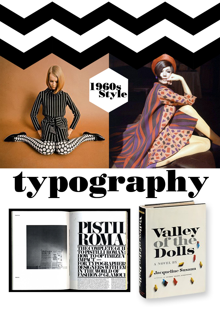 1960s typography, 1960s fashion,