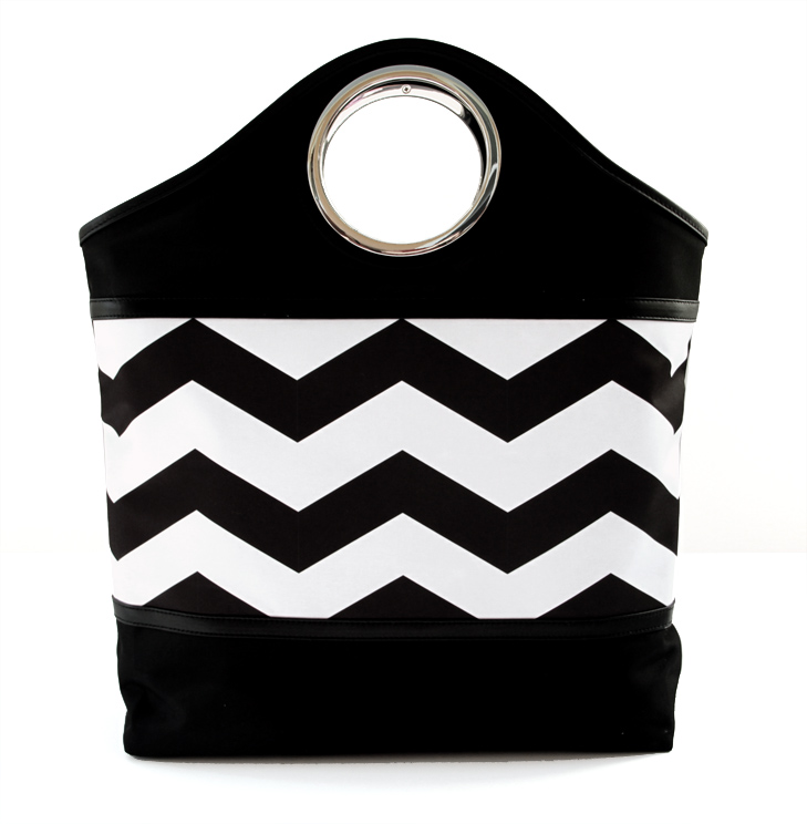 Kodak Gallery Free Shipping, Chevron Tote, Jessica Quirk, Black and White, Chevron