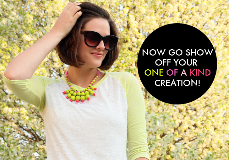Neon Necklace, DIY necklace, DIY neon, Jessica Quirk, Do it Yourself