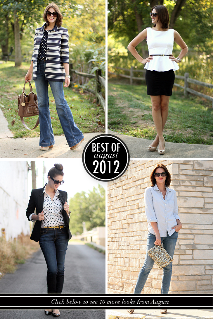 Best of What I Wore, August 2012, What I Wore August, Jessica Quirk, What i Wore Jessica, Style Blog, Personal Style Blog, Fashion Blog