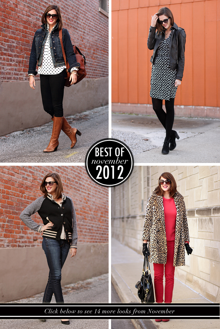 Best of What I Wore, November 2012, Outfit Blog, Style Blog, Winter Outfit Ideas, What I Wore Jessica, Jessica Quirk, What i Wore blog