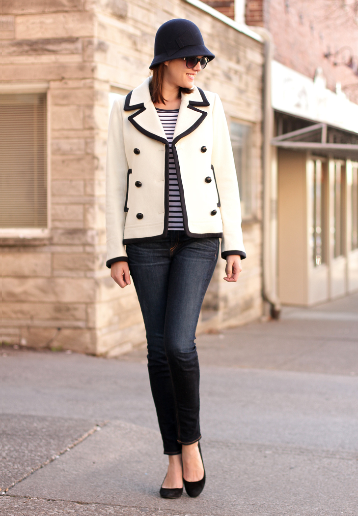 Winter Nautical, Nautical Outfit, Jessica Quirk, What I Wore, What I Wore Jessica, What I Wore blog, Personal Style Blog, Style Blog, Outfit Blog, Outfits blog, fashion blog, Fashion blogger, fashion blogger on tumblr, J.Crew, Peacoat,