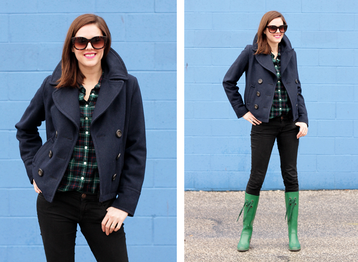 Jessica Quirk of What I Wore, Fashion Blog, Rainy Day Style