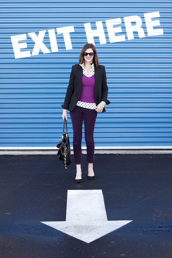 Jessica Quirk, What I Wore, What i Wore Jessica, Fashion Blog, Style Blog, Purple, Polka Dots