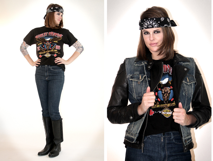 Homemade Halloween Biker Babe On What I Wore