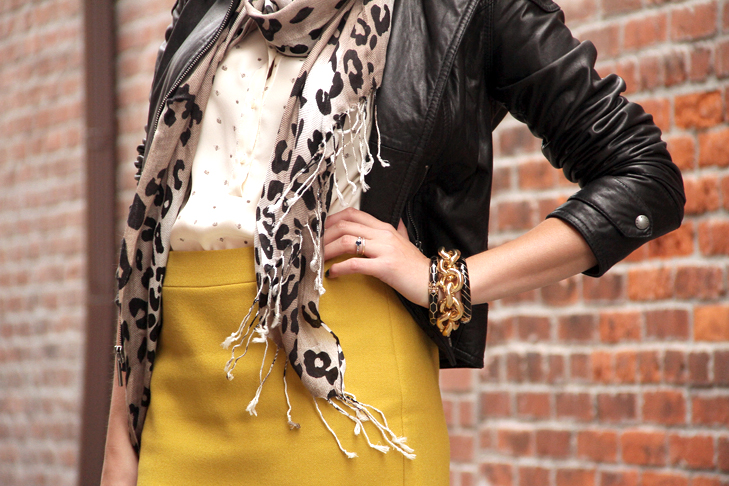 @whatiwore, What I Wore, What I Wore, Moto Jacket, Yellow Skirt, Leopard Print, Tweed Pumps, Jessica Quirk, Fashion Blog, Style Blog, Personal Style Blog, Indiana blogger, Indiana Fashion Blogger, Midwest Fashion Blogger, leopard print and yellow, accessorize leopard print, moto jacket and leopard