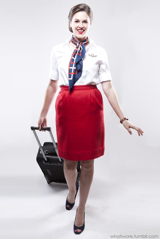 Homemade Halloween: Flight Attendant on What I Wore