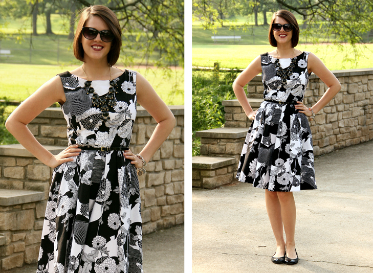 Simplicity 2444, Sewing, Japanese Floral fabric, Jessica Quirk, What I Wore, J.Crew bubble necklace, Midwest Fashion Blogger, Style Blog, Style blogger, fashion blogger on tumblr, outfit blog, Bloomington IN, Bloomington Indiana, Indiana Fashion