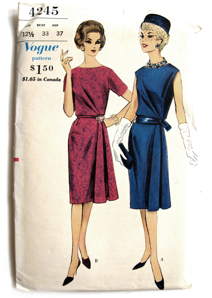 Vogue 4245, Vintage Vogue Pattern, Jessica Quirk, What I Wore