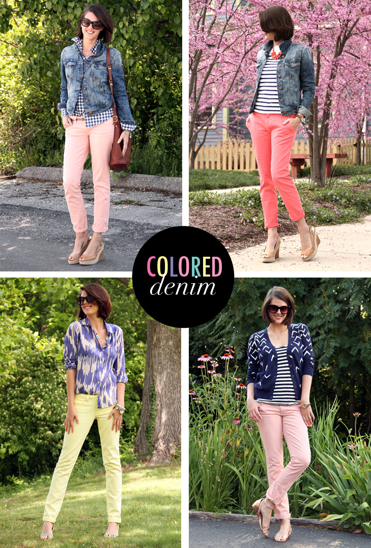 Ways to Wear Colored Denim on What I Wore