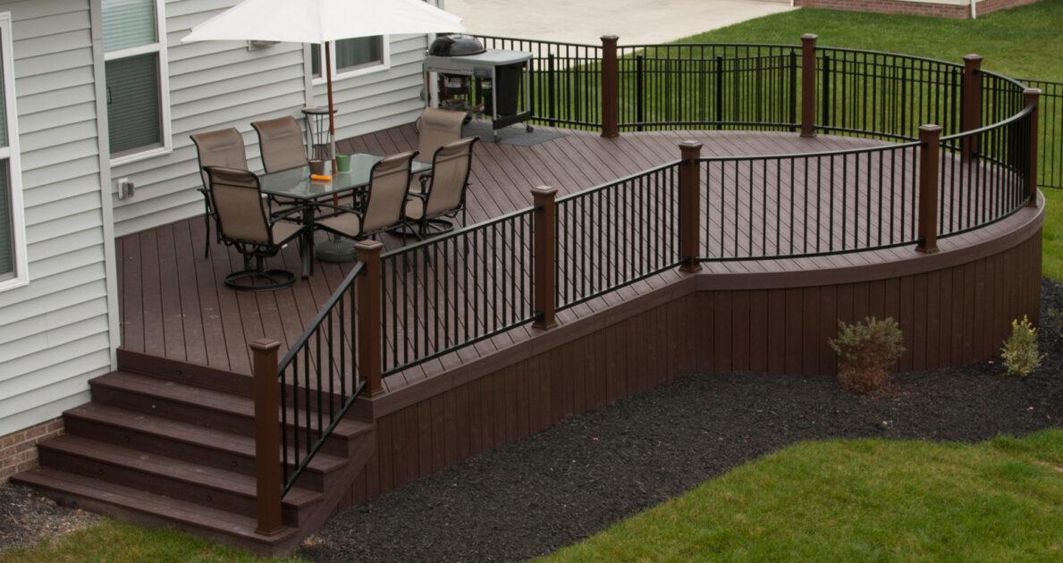 Custom Deck Design Ideas Construction Woodland Deck Company Ohio