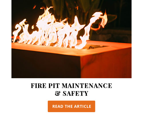 Fire pit maintenance and safety