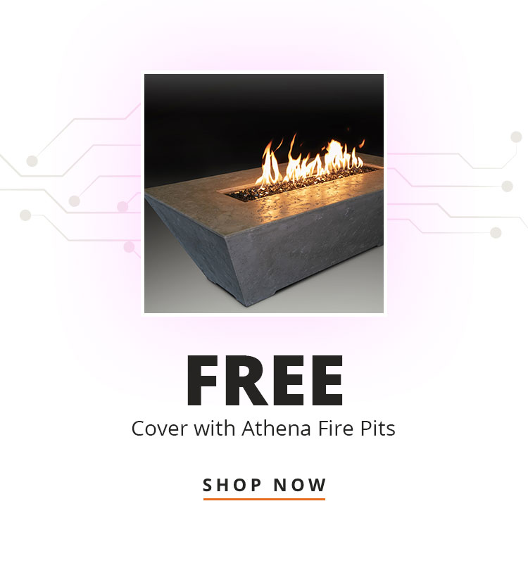 Free Cover with Athena Fire Pits