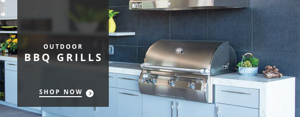 stainless steel grill with food grilling in an outdoor space