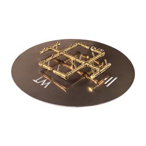 Round CROSSFIRE Brass Burner