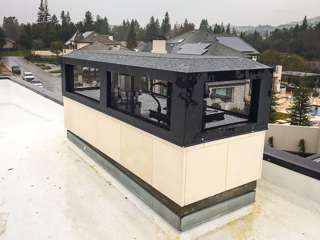 Black Multi-Flue Chimney Cap